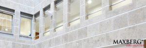 Naturstein-Fassade, grauer Maxberg® Jura Kalkstein