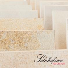 Verschiedene Oberflächenbearbeitungen von Solnhofener Naturstein